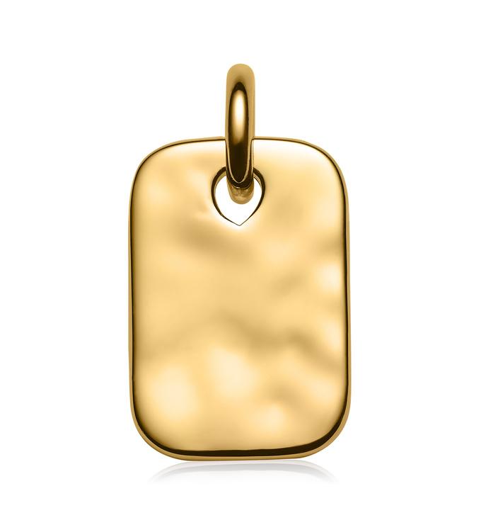 Gold Vermeil Havana Mini ID Pendant Charm - Monica Vinader