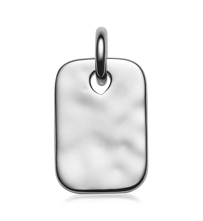 Sterling Silver Havana Mini ID Pendant Charm - Monica Vinader