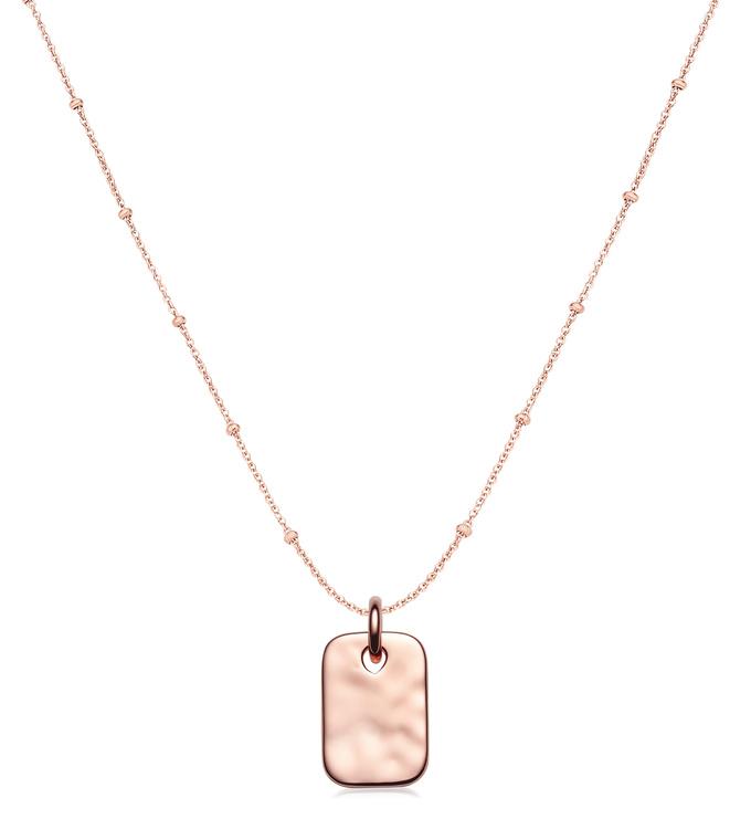 Havana Mini ID and Fine Beaded Chain Necklace Set - Monica Vinader
