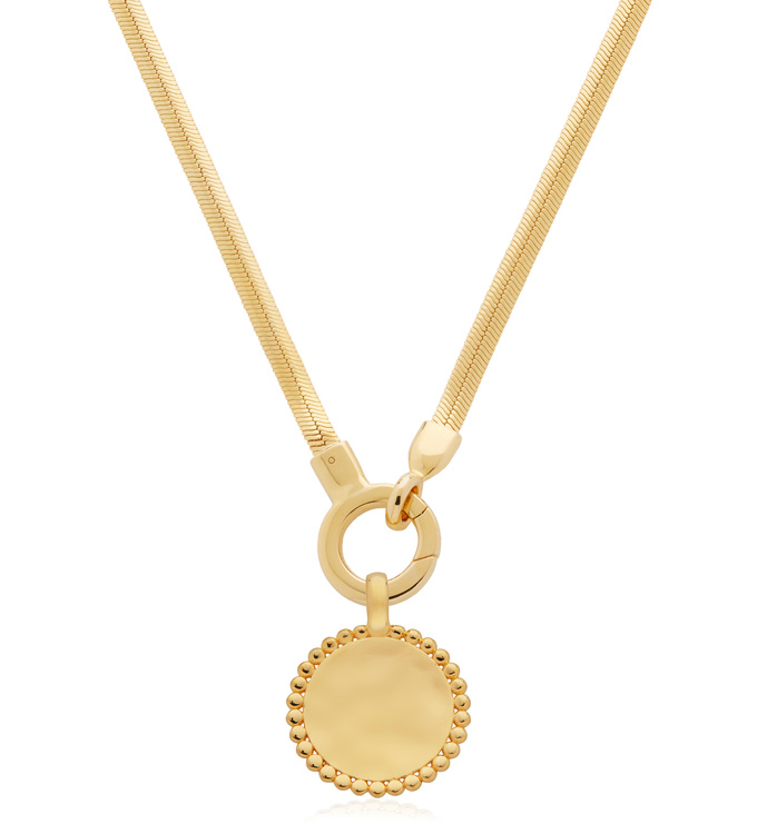 Deia Beaded Pendant and Doina Snake Chain Necklace - Monica Vinader