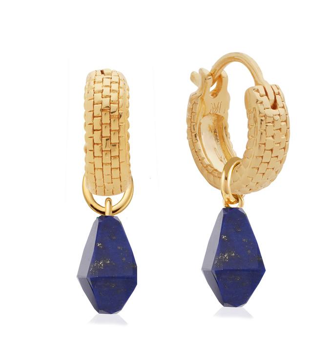 Doina Lapis Gemstone and Huggie Earring Set - Monica Vinader