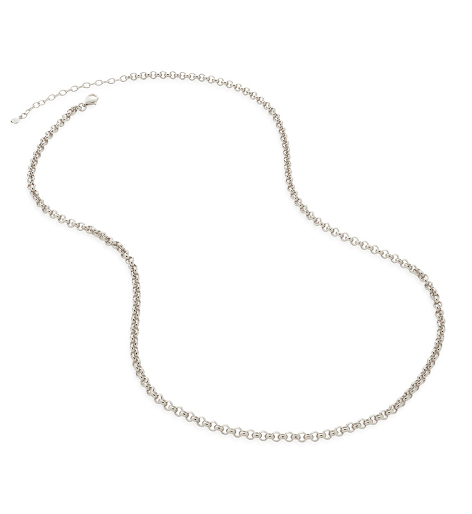 Sterling Silver Vintage Chain Necklace 20-22