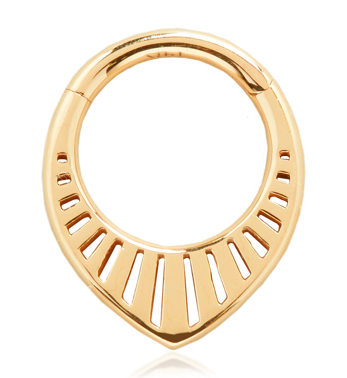 Gold Solid Gold Talisman Infinity Hoop 8mm - Monica Vinader