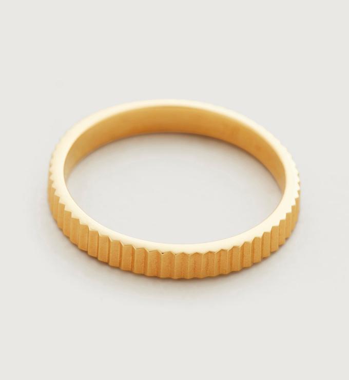 Gold Vermeil Disco Ring - Monica Vinader