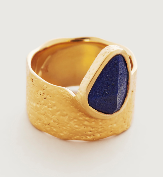 Gold Vermeil Deia Odyssey Ring  - Lapis - Monica Vinader