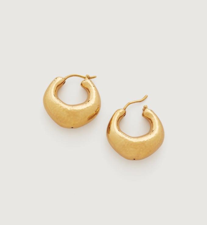 Gold Vermeil Deia Chunky Hoop Earrings  - Monica Vinader