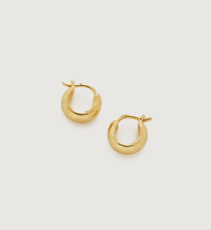 Gold Vermeil Siren Mini Huggie Earrings - Monica Vinader