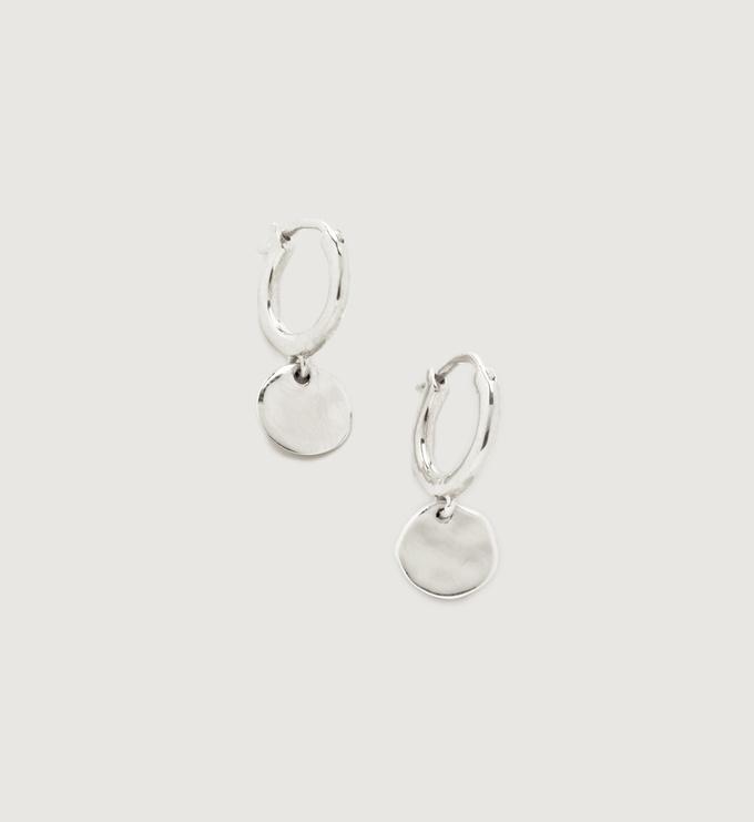 Sterling Silver Siren Muse Mini Drop Huggie Earrings - Monica Vinader