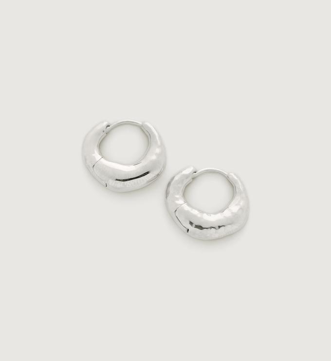 Sterling Silver Deia Huggie Earrings - Monica Vinader