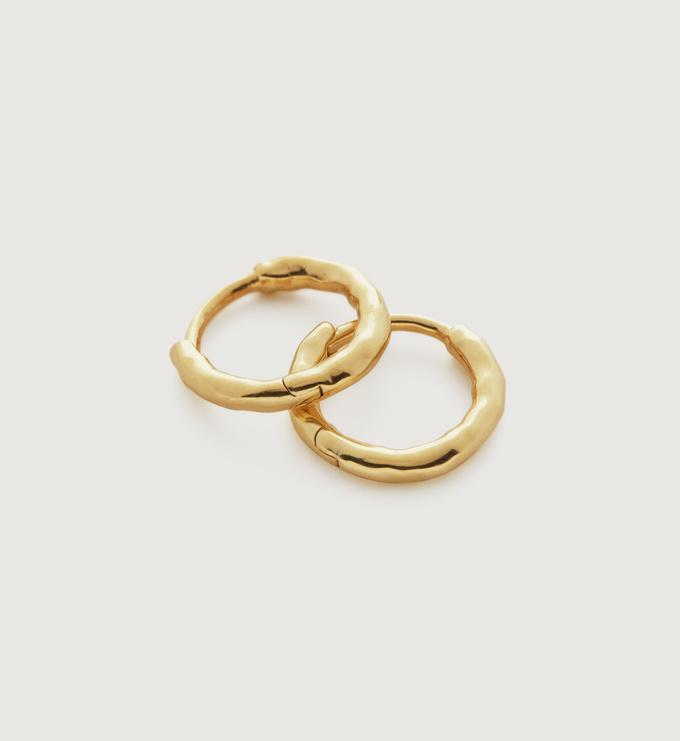 Gold Vermeil Ziggy Huggie Earrings - Monica Vinader
