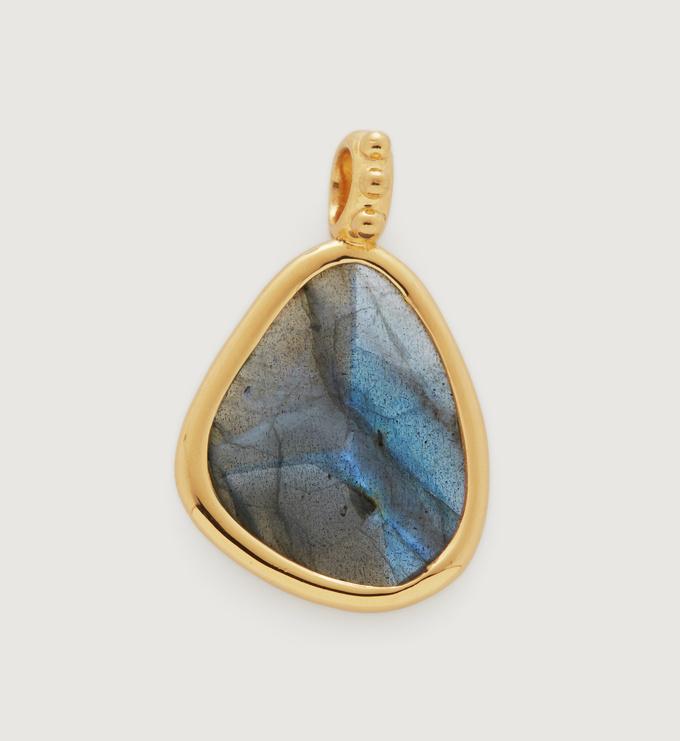 Gold Vermeil Deia Gemstone Pendant - Labradorite - Monica Vinader