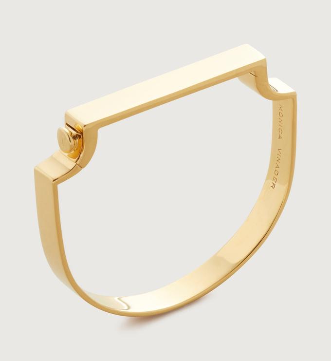 Gold Vermeil Signature Bangle - Monica Vinader