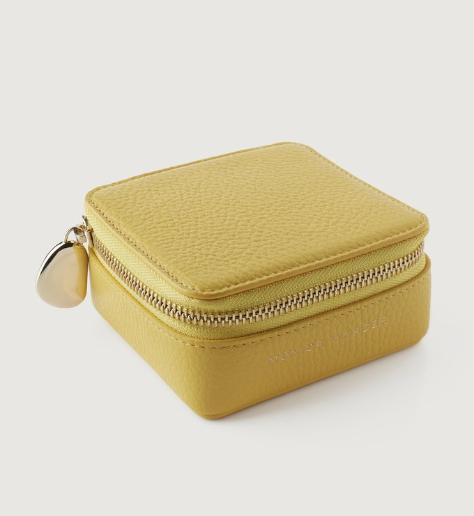 Leather Leather Jewellery Box - Yellow - Monica Vinader