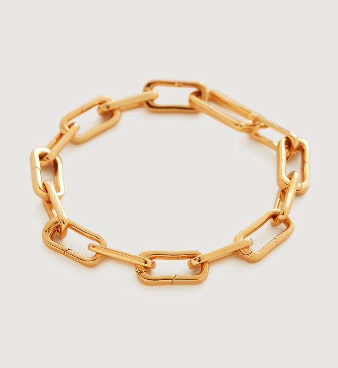 Gold Vermeil Alta Capture Charm Bracelet - Gold Vermeil Alta Capture Charm Bracelet - Monica Vinader