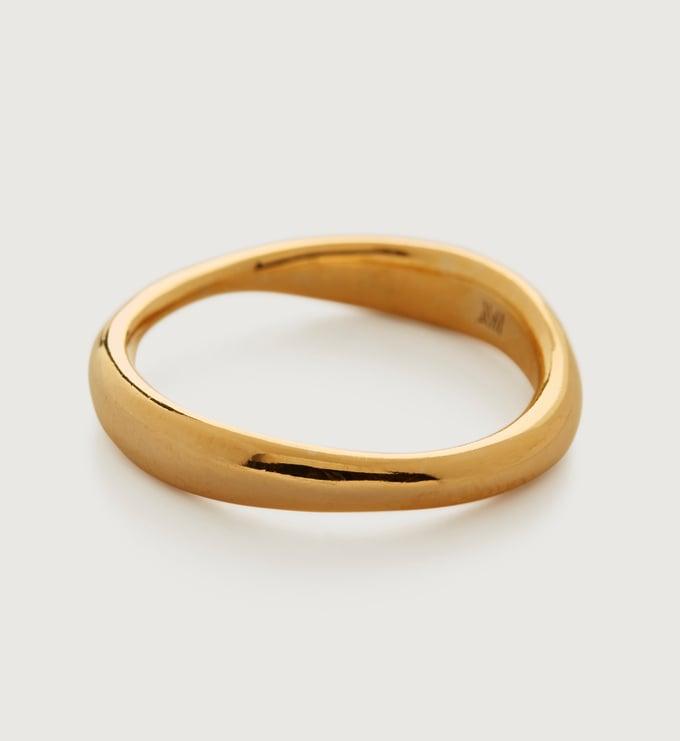 Gold Vermeil Nura Reef Stacking Ring - Gold Vermeil Nura Reef Stacking Ring - Monica Vinader