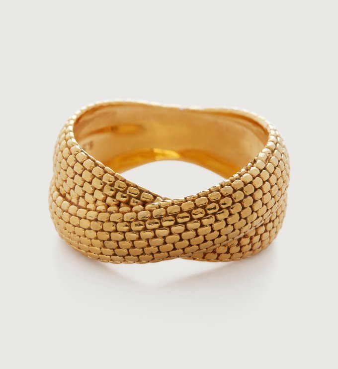 Gold Vermeil Doina Cross Ring - Gold Vermeil Doina Cross Ring - Monica Vinader