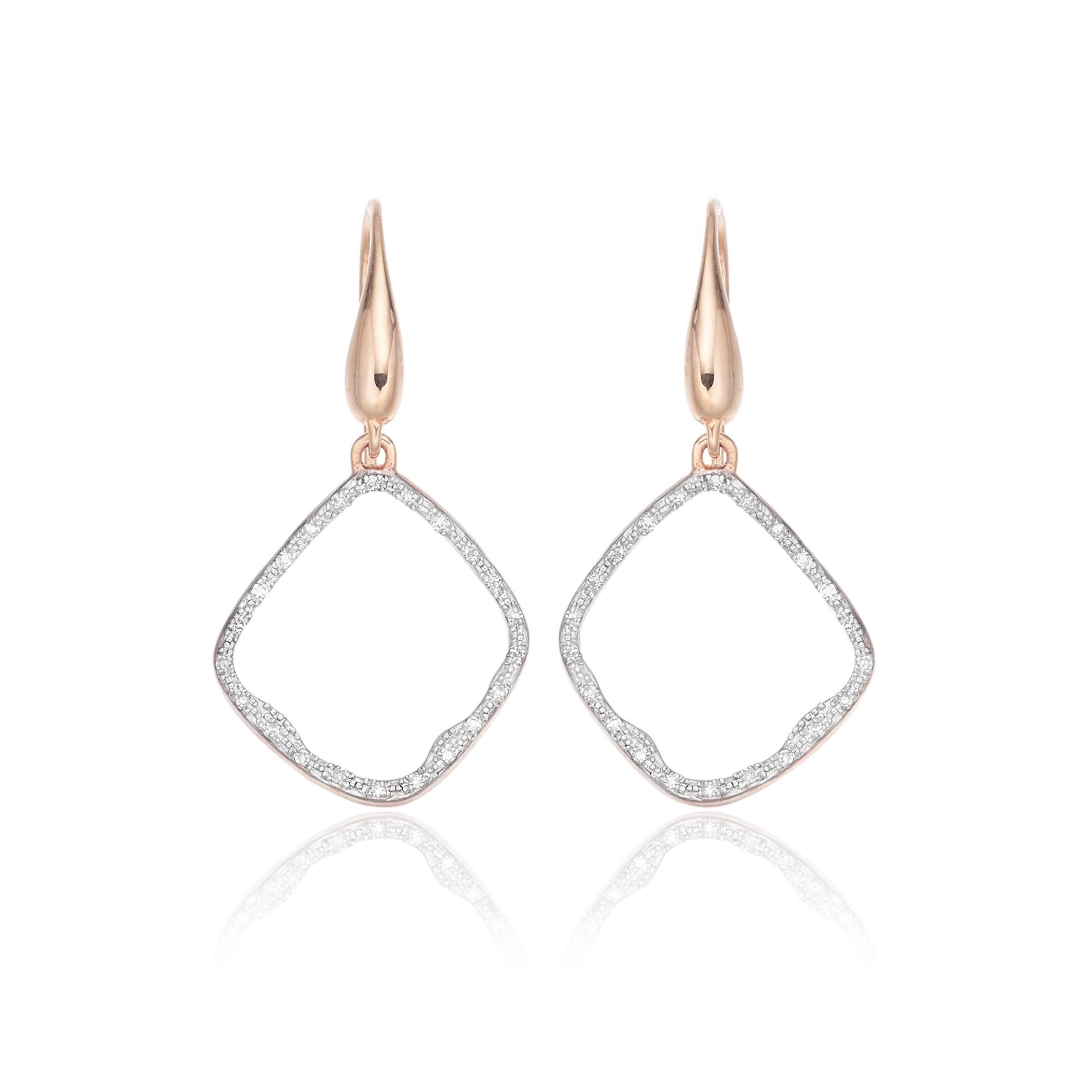 Riva Diamond Hoop Earrings Monica Vinader