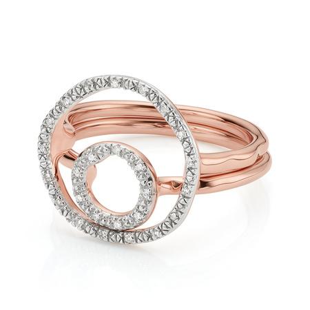 Riva Circle And Mini Circle Ring Set by Monica Vinader