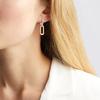 Gold Vermeil Alta Capture Charm Diamond Earrings - Diamond - Monica Vinader