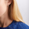 Gold Vermeil Alta Capture Huggie Diamond Earrings - Diamond - Monica Vinader