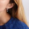 Alta Capture Charm Diamond Earrings - Diamond - Monica Vinader