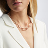 Rose Gold Vermeil Alta Capture Large Link Necklace - Monica Vinader