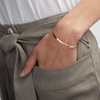 Rose Gold Vermeil Fiji Friendship Bracelet - Silver Metallica - Monica Vinader