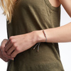 Rose Gold Vermeil Linear Friendship Bracelet - Silver Metallica - Monica Vinader