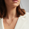 Gold Vermeil Riva Circle Diamond Necklace - Diamond - Monica Vinader