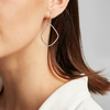 Rose Gold Vermeil Riva Large Hoop Cocktail Diamond Earrings - Diamond - Monica Vinader