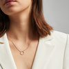 Rose Gold Vermeil Riva Circle Diamond Necklace - Diamond - Monica Vinader