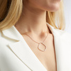 Rose Gold Vermeil Riva Hoop Cocktail Diamond Necklace - Diamond - Monica Vinader