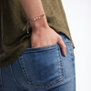 Rose Gold Vermeil Linear Bead Friendship Bracelet - Silver Metallica - Monica Vinader