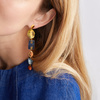 Gold Vermeil Caroline Issa Gemstone Cocktail Earrings - Monica Vinader