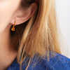 Gold Vermeil Caroline Issa Gemstone Huggie Earrings - Citrine - Monica Vinader