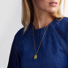 Gold Vermeil Caroline Issa Gemstone Large Pendant Adjustable Necklace  - Lemon Quartz - Monica Vinader