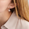 Rose Gold Vermeil Caroline Issa Gemstone Huggie Earrings - Rose Quartz - Monica Vinader