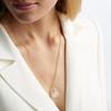 Rose Gold Vermeil Caroline Issa Gemstone Large Pendant Adjustable Necklace  - Rose Quartz - Monica Vinader
