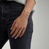 Sterling Silver Linear Solo Friendship Diamond Bracelet - Rainbow Cord - Diamond - Monica Vinader