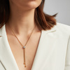 Gold Vermeil Fiji Button Lariat Diamond Necklace - Diamond - Monica Vinader