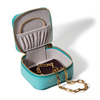 Leather Personalised Leather Trinket Box - Turquoise - Monica Vinader
