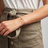 Rose Gold Vermeil Alphabet Moon Diamond Friendship Bracelet - Diamond - Monica Vinader