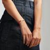 Gold Vermeil Linear Ingot Bracelet - Fluoro Pink - Monica Vinader