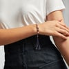 Rose Gold Vermeil Linear Ingot Friendship Bracelet - Black - Monica Vinader