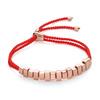 Rose Gold Vermeil Linear Ingot Friendship Bracelet - Coral - Monica Vinader