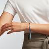 Rose Gold Vermeil Linear Ingot Bracelet - Sky Blue - Monica Vinader