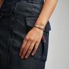 Sterling Silver Linear Ingot Friendship Bracelet - Fluro Coral - Monica Vinader