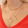 Rose Gold Vermeil Siren Small Coin Pendant Charm - Monica Vinader