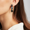 Rose Gold Vermeil Nura Triple Teardrop Earrings - LIMITED EDITION - Labradorite - Monica Vinader