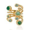Gold Vermeil Siren Tonal Cluster Cocktail Ring - Mix - Monica Vinader